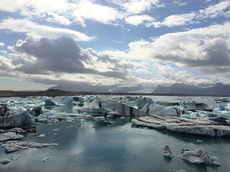 Glacier Lagoon, Iceland, Icebergs, Ice
