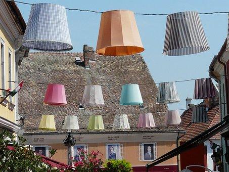 Hungary, Szentendre, Main Square, Mood, Lampshade