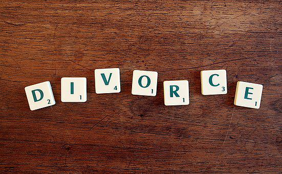 Divorce, Word, Letters, Justice, Right, Wood, Legal