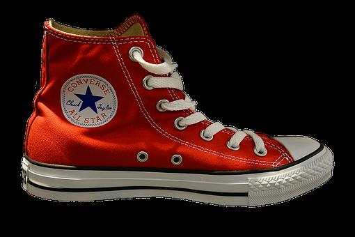 Sneakers, Chuck's, Sneaker, Shoe, Red, Fashion