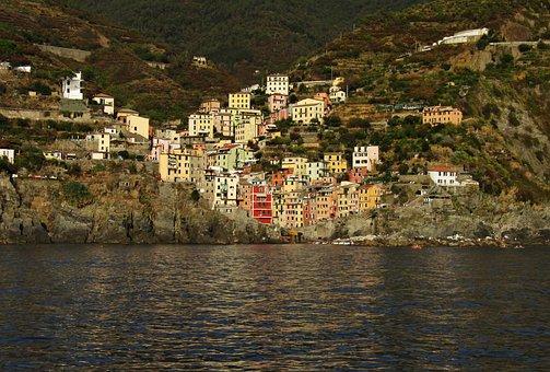 Cinque Terre, Liguria, Italy, Colors, Houses, Rocks
