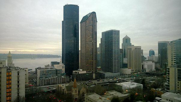 Seattle, Downtown, Building, Architecture, Urban