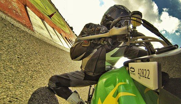 Moto, Circuit, Trail, Speed, Lying