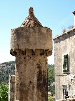 Lastovo, Croatia, Fumar, Village, Chimney