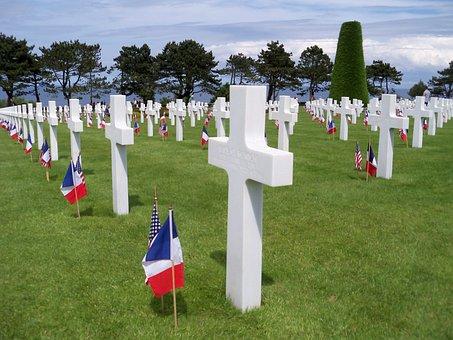 War Cemetery, Dday, Landing Normandy, Day Sur Mer