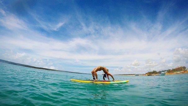 Yoga, Pineapple, Mar, Sky, Praia Do Frances
