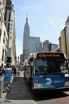 Bus, Empire State Building, New York City, Manhattan