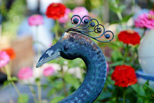 Peacock, Peacock Head, Deco, Decoration, Decorative