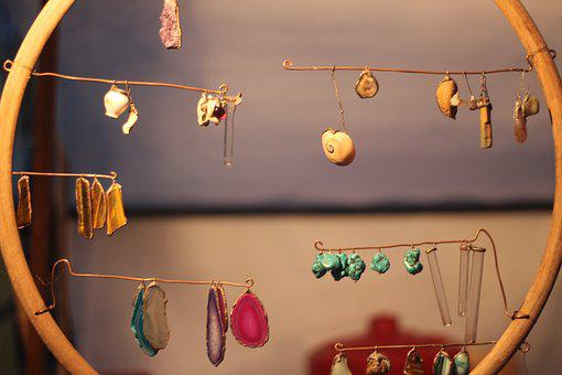 Decorations, Circle, Earring, Market, Flea Market