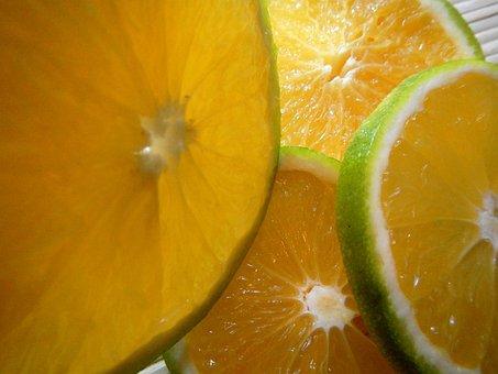 Slices, Orange, Fruit, Vitamins, Citrus Sinensis