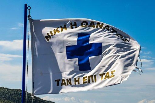 Flag, Greek, Revolutionary, Greek Revolution, 1821