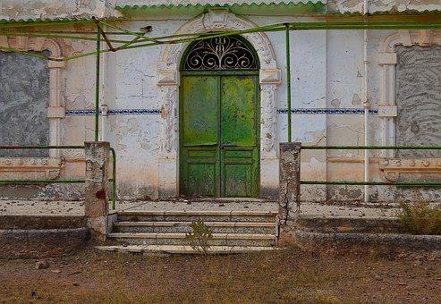 Old Door, Green Door, Old, Rustic, Old Building