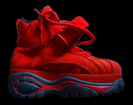 Shoe, Platform Shoe, Sole, High, Buffalo, Red