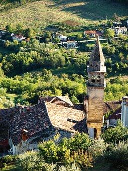 Croatia, Holiday, Motovun, Tower, Church, Coast