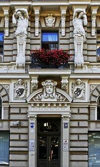 Art Nouveau, Facade, Architecture, House Facade