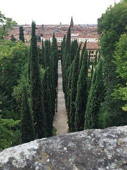 Giusti Garden, Verona, Walk, Italy, Terrace, Garden