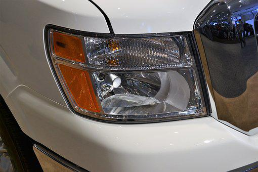 Headlamp, Lincoln Navigator, White, Suv