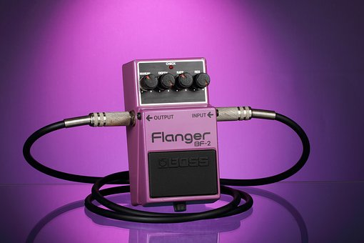 Guitar Pedal, Effects Pedal, Flanger, Stomp Box, Music