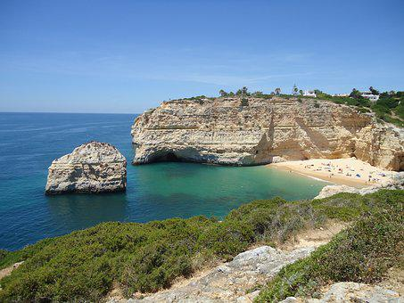Portugal, Beach, Algarve, Sea, Sun, Carvalho, Coast
