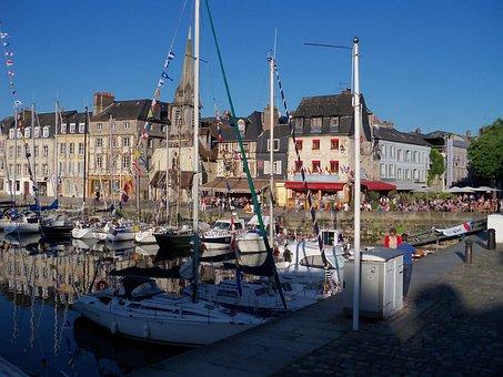 Honfleur, Sea, Porto, Boats