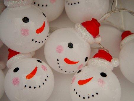 Lichterkette, Christmas, Snowmen, Light, Christmas Time