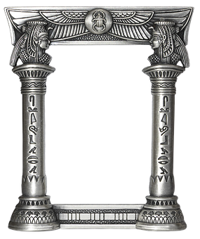 Picture Frame, Egyptian, Metal Frame, Stable, Ornament