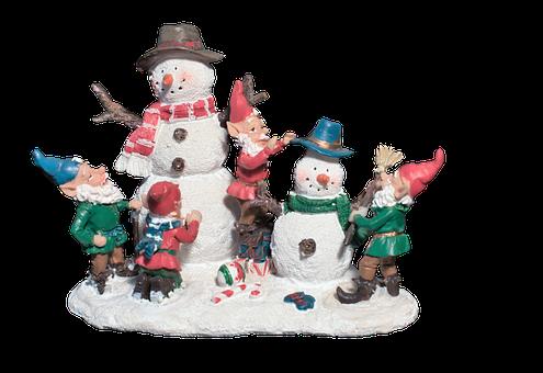 Snow Man, Elves, Deco, Decoration, Christmas, Winter