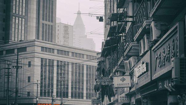 Shanghai, Street, At Home, City, Architecture, Autumn