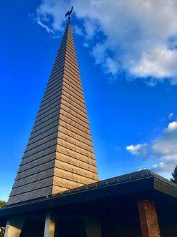 Church, Zollikon, Chapel, Summer, Sky, Zurich, House