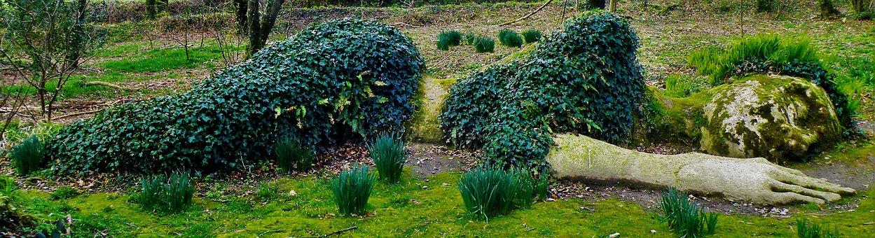 Sleeping Woman, The Lost Gardens Of Heligan, Cornwall