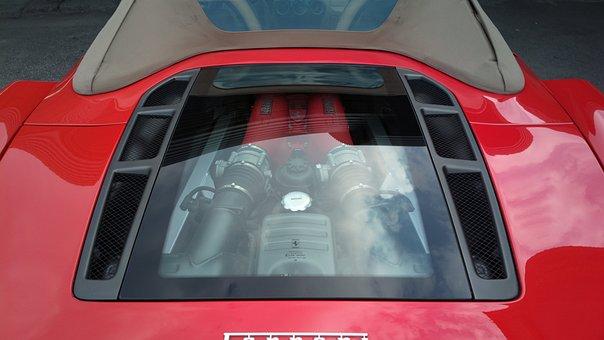 Car, Motor, Ferrari, Glass, Engine, Cover, Design