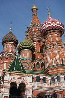 Moscow, Red Square, Basilica, Building, Historically