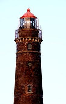 New Lighthouse, Borkum, Island, Beacon, Coast, High
