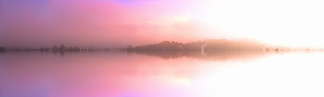 Landscape, Pink, Water, Sea, Mirroring, Dream World