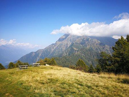 Mountain, Monte Legnone, Meadow