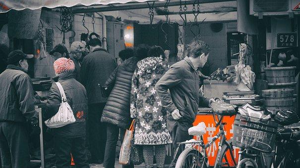 Trade, Shanghai, People, Market