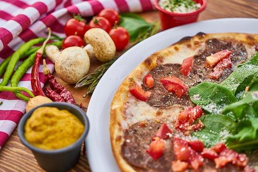 Sauce, Pizza, Meat, Rotary, Dough, Lettuce, Pepper