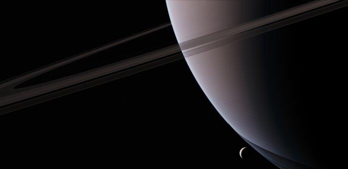 Encelade, Saturn, Satellite, Astronomy, Planet, Space