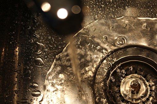 Sink, Water, Tap, Drain, Stainless, Steel, Plug