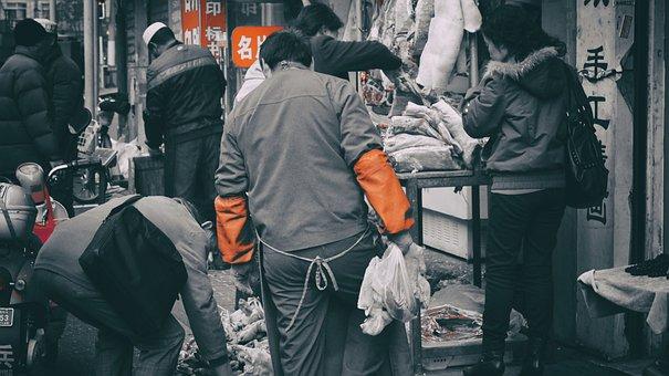 Shanghai, Market, Trade, Shop, Street, The Seller