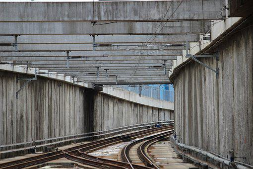 Railway Tracks, Underground Station, Transport, City