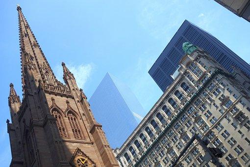 New York, Trinity Church, World Trade Center