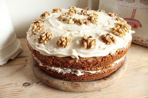 Cake, Walnuts, Carrot Cake, Carrot And Walnut Cake