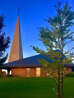 Church, Zollikon, Chapel, Summer, Sky, Zurich, Home