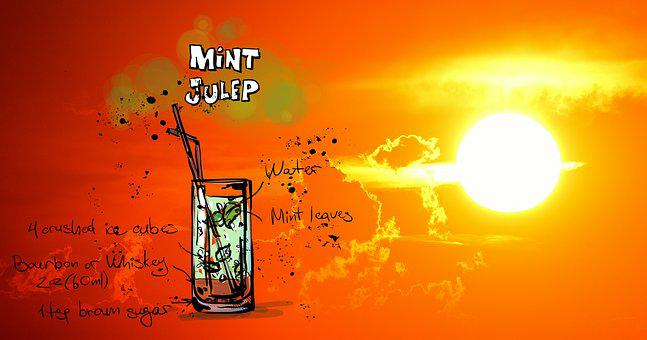 Mini Julep, Cocktail, Drink, Sunset, Alcohol, Recipe