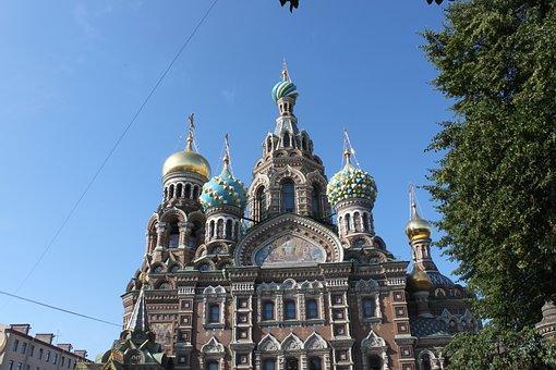 St Petersburg Russia, City, Temple, Neva, Architecture