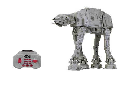 Toys, At-at, Star Wars, Isolated, Frenbedienung, Action