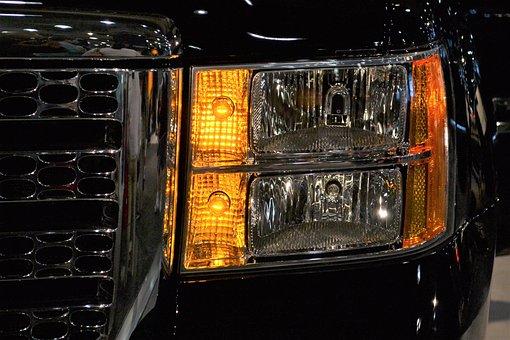 Black Suv, Headlamp, Black, Headlight, Vehicle