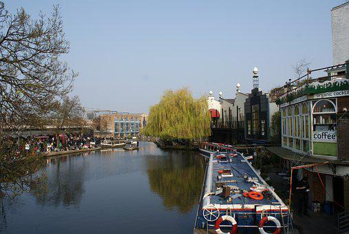 Camden Town, Lodres, England, Regent's Canal Toupath