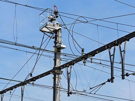 Railway, Catenary, Power Supply, Mast Switch, Feed